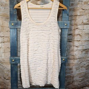 cream and gold free people tank top blouse